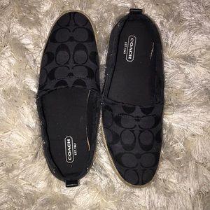 Super cute Black Coach shoes 6 1/2 women's